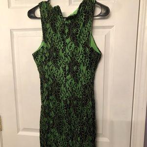 """""""Nikibiki"""" Green/black slim fit dress. Sz L."""